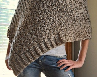 Crochet Patterns For Ponchos : CROCHET ARAN PONCHO PATTERN Crochet Patterns Only