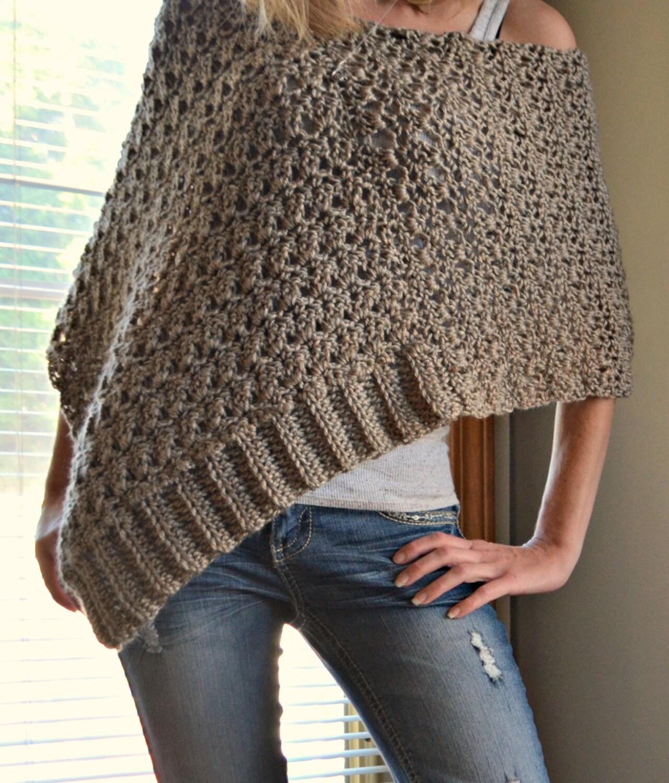 Free Crochet Poncho Patterns Adults : CROCHET PATTERN Delia Precious Poncho Crochet by ...