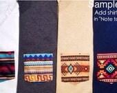 Customized Regular Crewneck Tribal Pocket Tee Sizes: Unisex Adult Small, Medium, Large, Extra Large