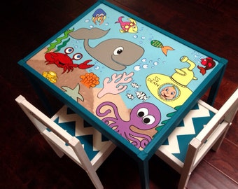Under the Sea Play Table and 2 Chairs
