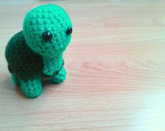 Handmade Crocheted Turtle Soft Toy