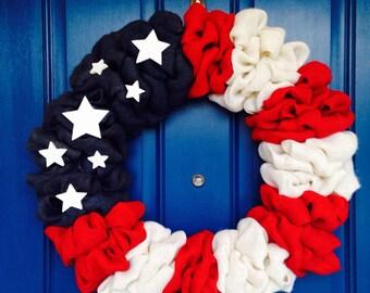 Sale Patriotic American Flag Wreath