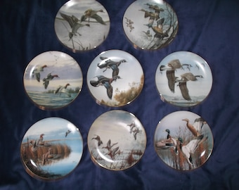 Vintage David Maass Ducks Taking Flight collectable Plates