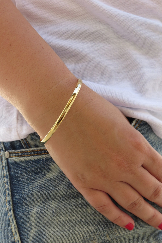 gold bracelet gold bangle simple bangle bracelet shiny