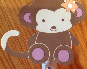 Adorable Jacana Monkey  Nursery Night Light
