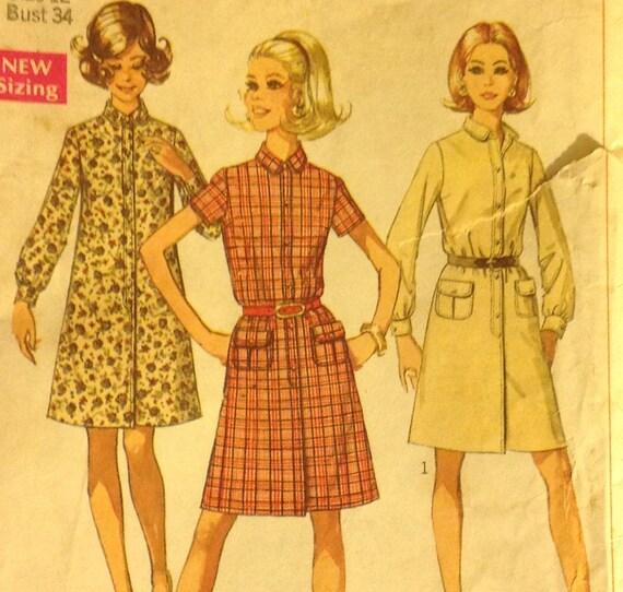 Simplicity 7856 MISSES DRESS Day Dress Size 12 Bust Size