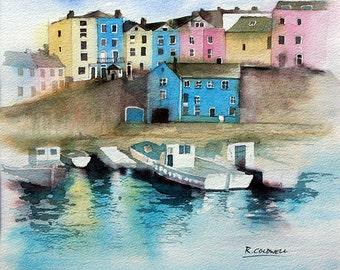 Tenby harbour - fine art print