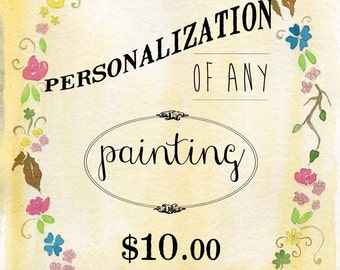 Personalize your Painting - Add text to your print