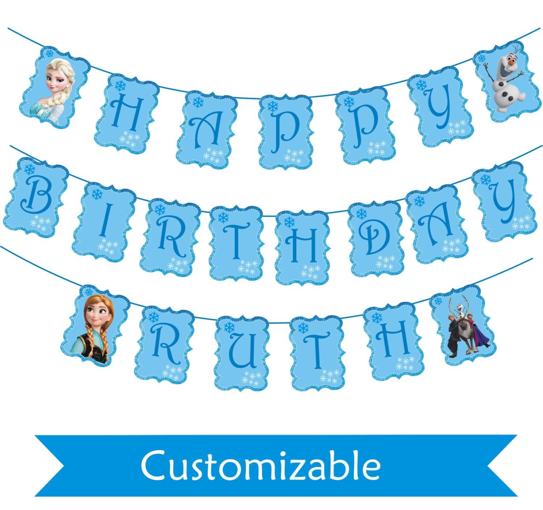 Frozen Birthday Banner Printable Frozen Banner Party By: Frozen Birthday Banner Printable Frozen Banner Party By