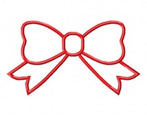Big Bow Embroidery Design Bow Appliqué 5 sizes in 4x4 5x7 6x10 hoop Instant Download