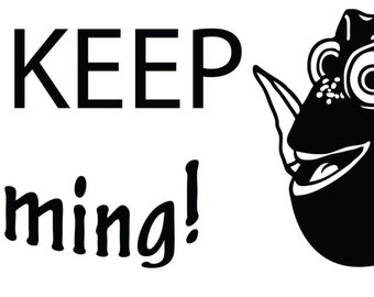 Just Keep Swimming or Keep Calm with Dory Finding Nemo Decal Sticker