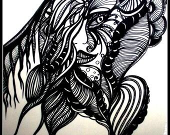 """Illustration """"Poker Face"""" - on paper 90g"""