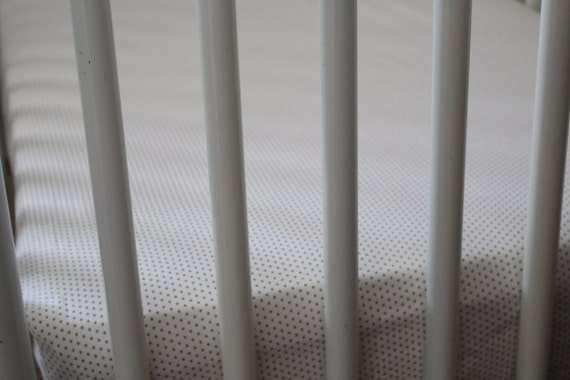Gold polka dot crib sheet