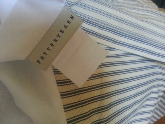 Ticking Stripe Bedskirt Queen Size Vintage Dust Ruffle Bed