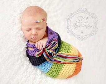 Newborn Snuggle Sac - RAINBOW - Custom Order ( NOT RTS )
