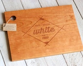 Custom Engraved Wood Cutting Board - Modern Geometric Design