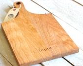 Handle Cutting Board - Rustic Modern Custom Personalized Platter Tray