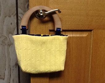 Adorable University of Michigan sweater purse