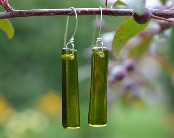Upcycled Wine Bottle Earrings