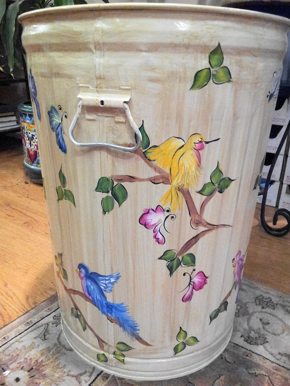 Custom Painted Trash Cans