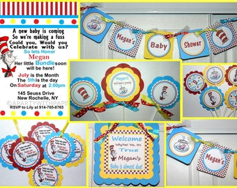 DR SEUSS  Baby Shower Package- Dr Seuss Baby Shower