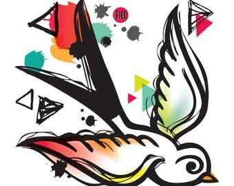 Temporary Tattoos - Birds