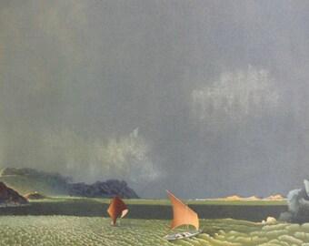 "Michel Charpentier ""Ondes Turbulentes"" Original Lithograph S/N Art"