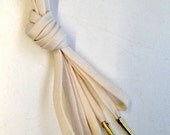 Basic Laces with Aiglets for Bodices and Corsets for Reenactment or Fancy Dress - Cream/Off-White
