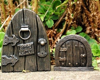 Items similar to unfinished wood fairy door handmade diy for Unpainted fairy doors