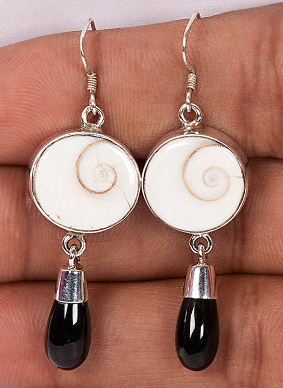 925 Sterling Silver Shiva Eye Stone Earring Set
