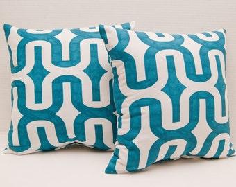 Blue Aqua Embrace Aquarius Decorative Throw Pillow - Couch Pillow - Throw Pillow - Aqua Pillow - Beach Pillow - Accent Pillow