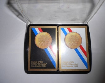 1984 Los Angeles Olympic Gold Limited Edition Playing Cards