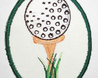 Iron-On Patch - GOLF BALL