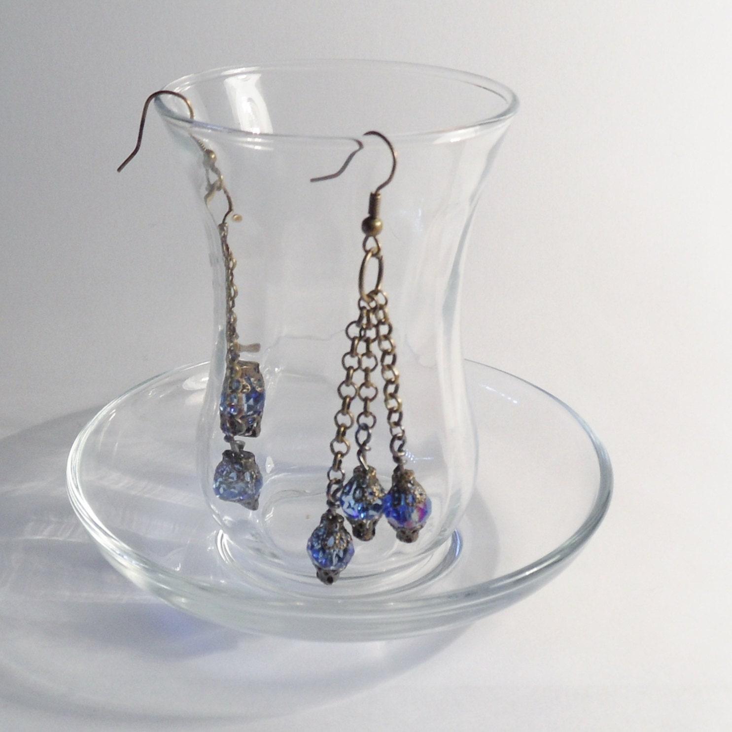 lantern style glass earring steampunk buy now online
