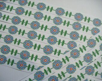 10 stickers stripes, flower (599)