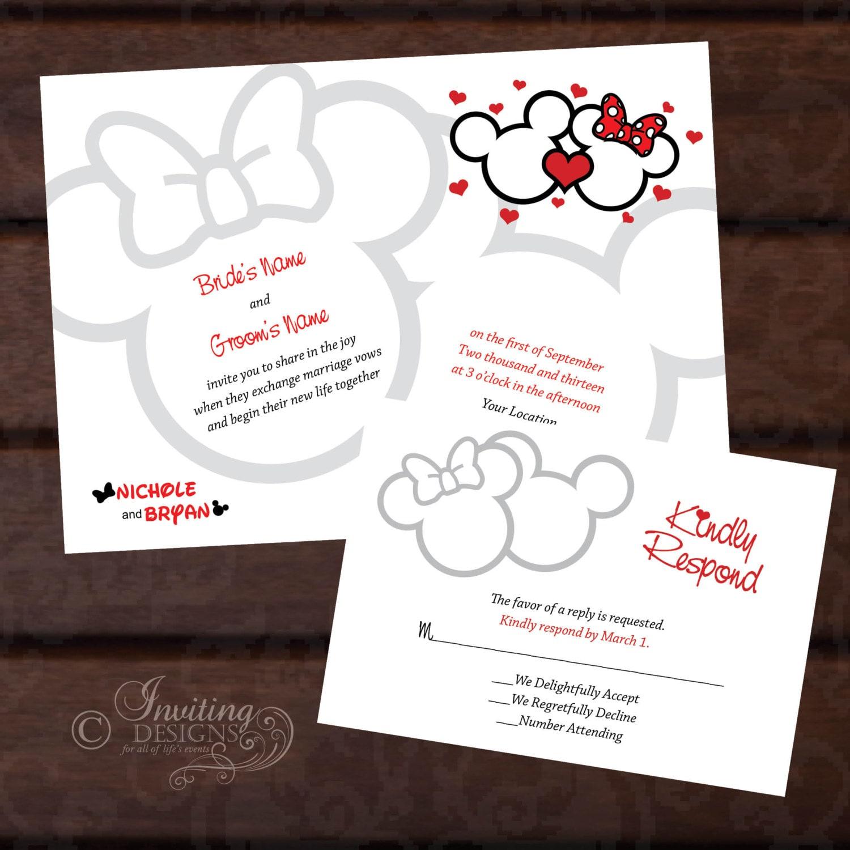 mickey and minnie wedding invitations - 28 images - disney fairytale ...