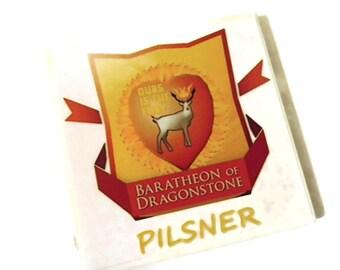 Game of Thrones Stannis Baratheon Ours is the Fury Pilsner Coaster,house baratheon,baratheon coasters,drink coasters,beer coasters,beverage