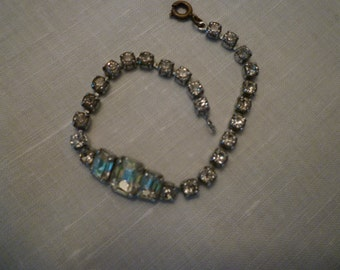 Vintage Jewelry Rhinestone Bracelet English, Elegant Jewels, BRACELETS, Jewelry Vintage Rhinestone