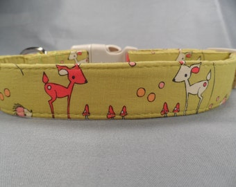 Woodland Animals Dog Collar