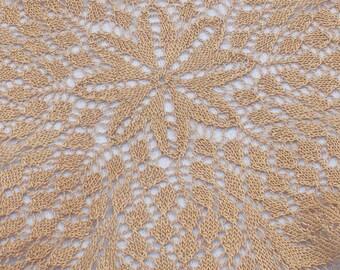 Vintage Knit Doily .