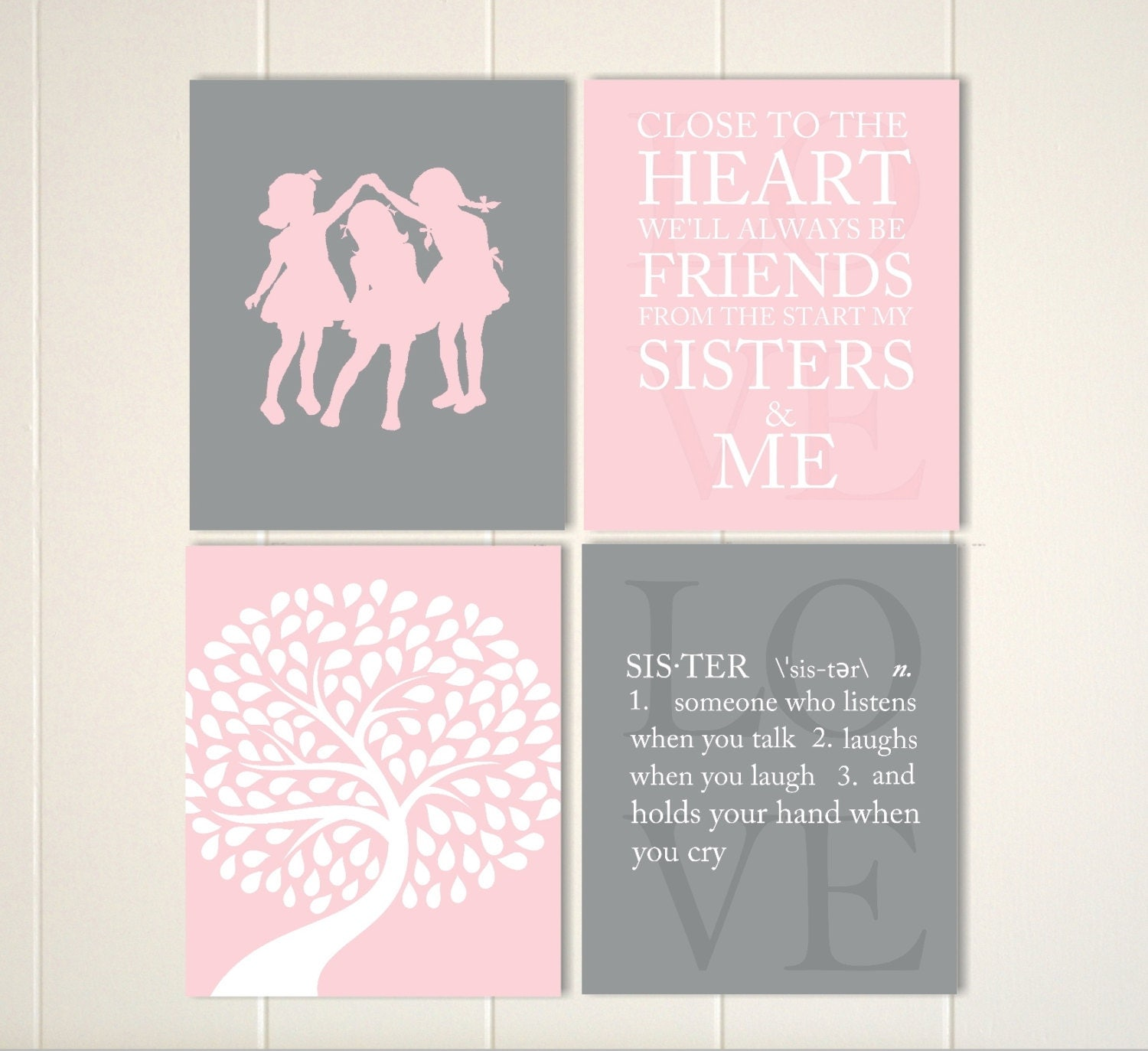 Wall Art Quotes For Sisters : Sisters wall art quotes girls