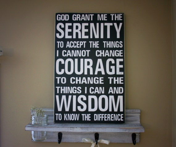Items Similar To Home Decor Rustic Wood Sign Serenity Prayer Quote On Etsy