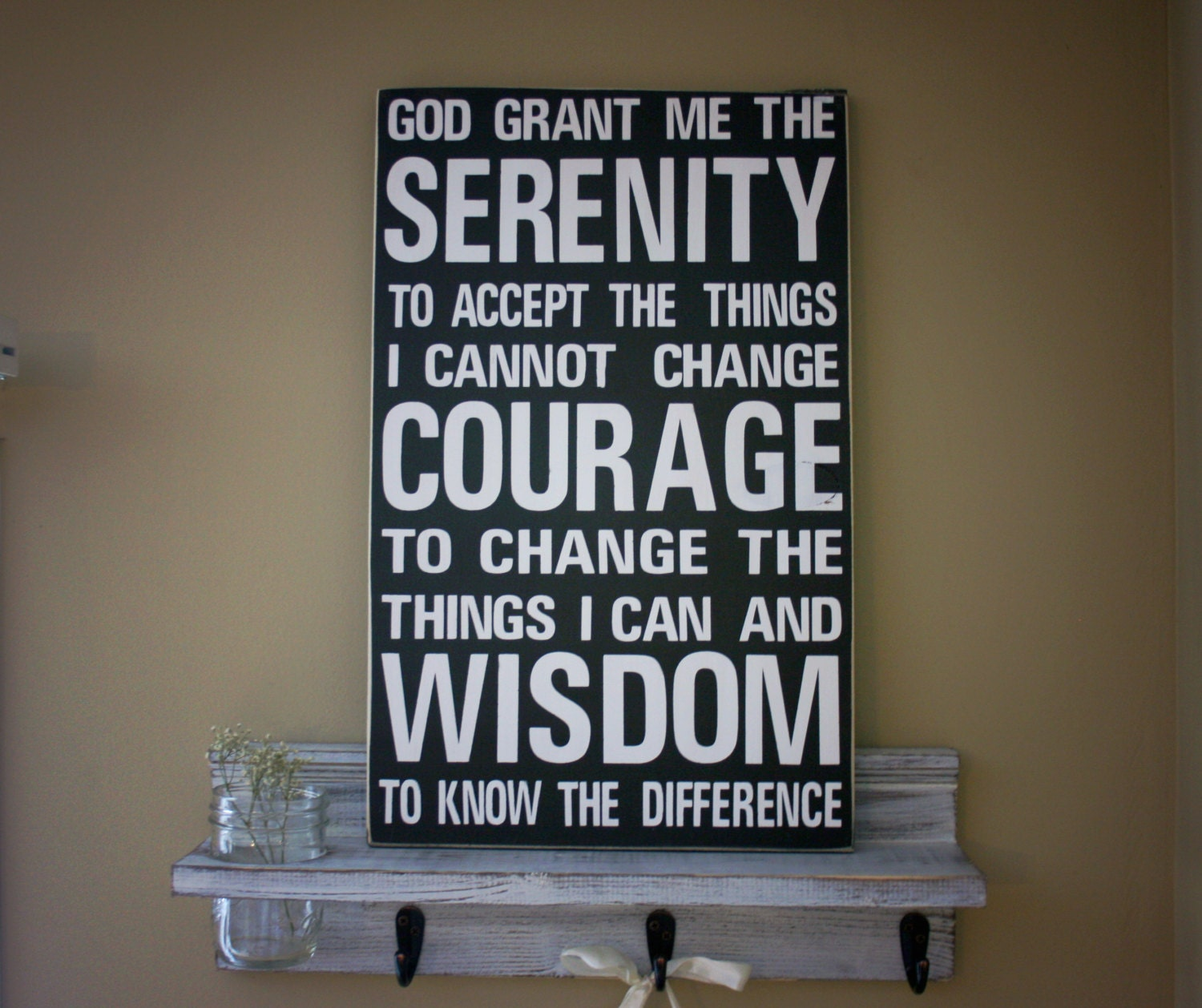 Home decor rustic wood sign serenity prayer quote by for Home decorations quotes