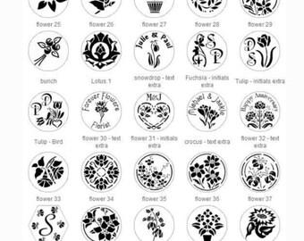 Flower, Shamrock, Rose Wax Seal Stamp