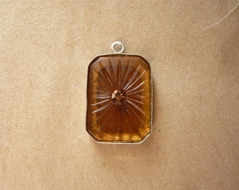 Vintage Glass Sunburst Pendant