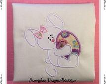 Bunny Girl 2 Machine Embroidery Applique Design