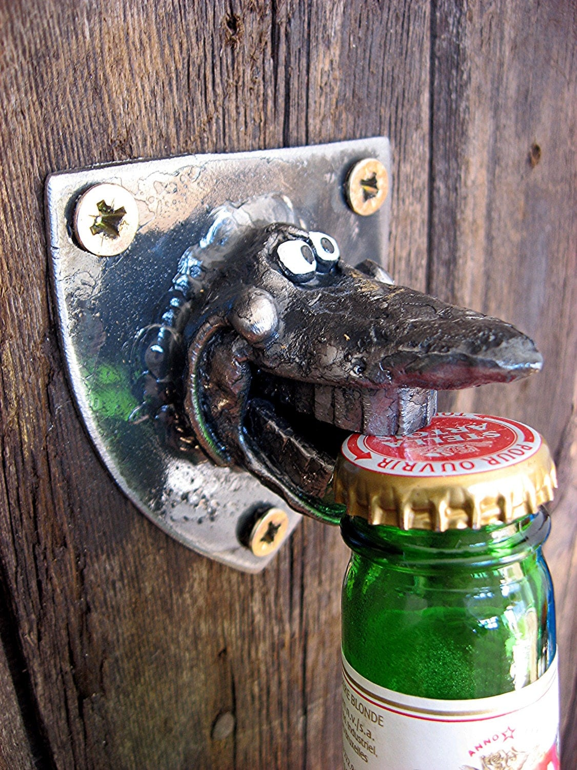 silly shark bottle opener wall mounted. Black Bedroom Furniture Sets. Home Design Ideas