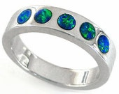 Opal Ring 5 Australian Bl...