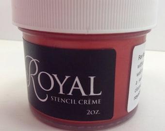 Royal Stencil Creme Rennaisance Red