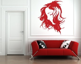 Beautiful Peaceful Woman Removable Wall Art Decor Decal Vinyl Sticker Mural